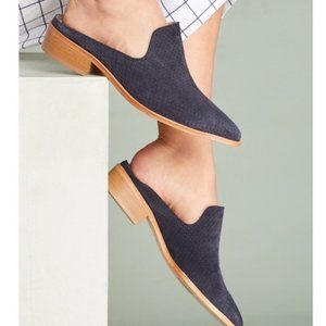Matt Bernson Perforated Suede Leather Mules Shoes